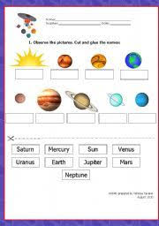 planet worksheets for kids english teaching worksheets solar