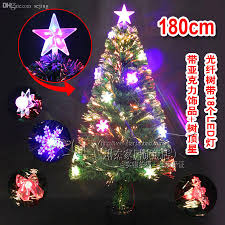 Christmas Tree With Optical Fiber Lights - cheap wholesale 1 8 meters 180cm optical fiber christmas tree belt