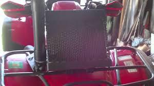 honda rubicon radiator relocation youtube