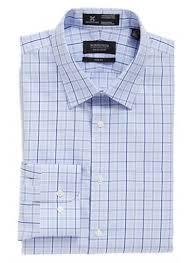 men u0027s calibrate trim fit non iron plaid stretch dress shirt dress