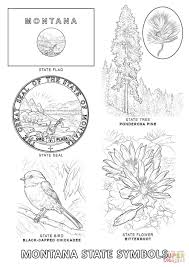Montana State Map by Montana State Symbols Coloring Page Free Printable Coloring Pages