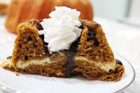pumpkin bundt cake with cream cheese filling savvy entertaining