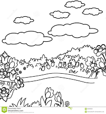 flower garden coloring page stock illustration image 86598638