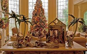 baroque nativity sets in living room traditional with next to