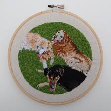 australian shepherd embroidery designs custom embroidered pet portraits by kathy halper dog milk