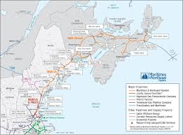 map of east canada maritimes and northeast pipeline