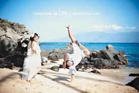 Hawaii Photographers Break Dancing At Kapalua Bay Maui Wedding Photographer