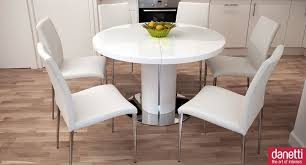 dining room table stylish white round dining table set design