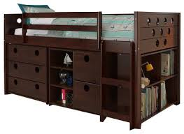 Dresser With Bookshelves by Loft Bed With Storage Bookshelves And Dresser In One
