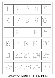 Number Worksheets Glamorous Number Tracing 1 30 Review Work Teaching Math Pinterest
