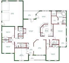 1 floor house plans single level open floor plans single flat roof modern house