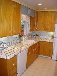 Tile Counters Elegant Black Color Granite Kitchen Tile Countertop Featuring