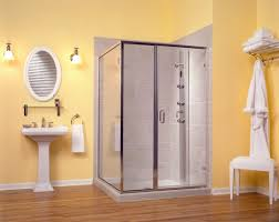 Bathtub Enclosures Ideas Bathroom Ceramic Or Porcelain Tile For Floor Black And White Small