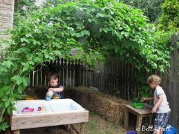 backyard hideout for kids brothers at play in passion flower