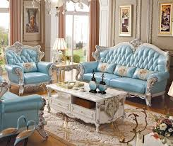 European Living Room Furniture Luxury European And American Style Living Room Furniture Leather