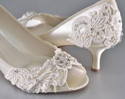 wedding shoes etsy low heel bridal shoe etsy