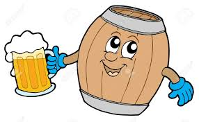 beer vector cute wooden keg holding beer vector illustration royalty free