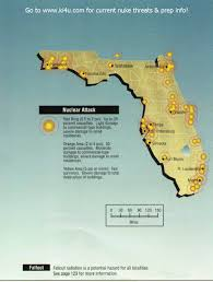 Florida Towns Map Nuclear War Fallout Shelter Survival Info For Florida With Fema