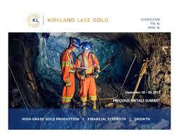 Seeking Kl Kirkland Lake Gold Kl Presents At 2017 Precious Metals Summit