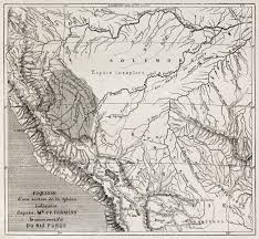 Irrawaddy River Map Purus River Basin Old Map South America After Sketch By