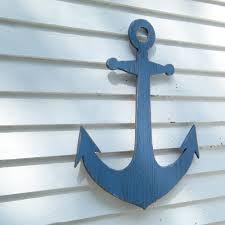 beach anchor sign wooden anchor indoor outdoor beach coastal wall