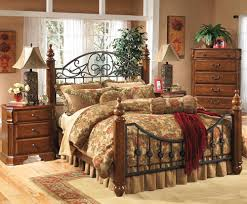 Bed Frame Post by Affordable Traditional Metal Bed With Wood Posts By Ashley Furniture
