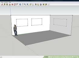how to create a living space in sketchup 9 steps with pictures