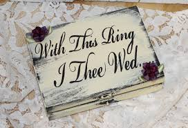 with this ring i thee wed ring box ring bearer groom with this ring i thee wed