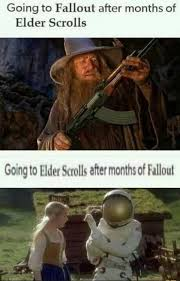 Elder Scrolls Meme - dopl3r com memes going to fallout after months of elder
