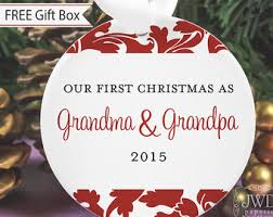 grandparent christmas ornaments pregnancy reveal to grandparents soon to be grandparents gift