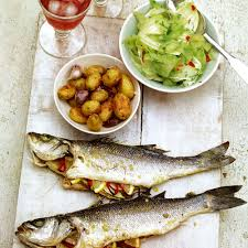 Summer Lunches Entertaining - whole sea bass with fennel and chilli woman and home
