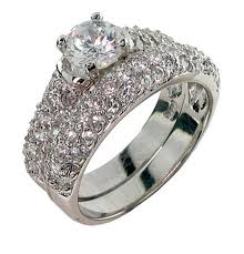 White Gold Cz Wedding Rings by Jewelry Rings Cubic Zirconia Rings Wedding Sets Zales Ringscubic