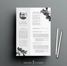 resume template 4page cv template cover letter for ms word