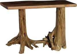 Rustic Hallway Table Rustic Living Hall Table With Stump Base