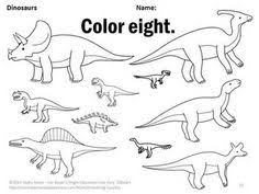 this fun and engaging dinosaur color by number worksheet supports