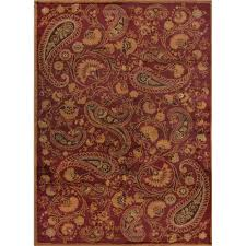 home dynamix paisley red 7 ft 8 in x 10 ft 4 in indoor area