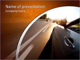 beautiful car traveling at high speed summer powerpoint template
