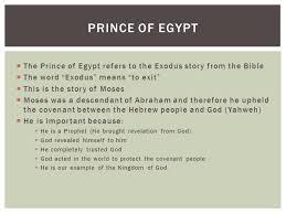 book exodus moses story prince egypt