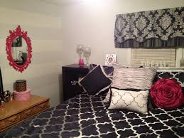Navy Accent Wall by After My Navy And Pink Bedroom W Light Grey Walls And White