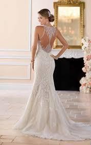beading wedding dresses high neck wedding dress with lace beading stella york