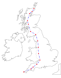 Map Of Scotland And England by What Is The Longest Distance You Can Travel On The Uk Mainland