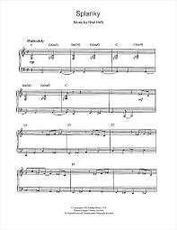 Count Basie Splanky Pdf Count Basie Splanky Sheet Notes Chords Piano