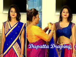 Different Ways Of Draping Dupatta On Lehenga Learn How To Wear Lehenga With Different Style Of Dupatta Draping