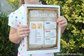 Backyard Scavenger Hunt Ideas Nature Scavenger Hunt For The Kids Free Printable How To Nest