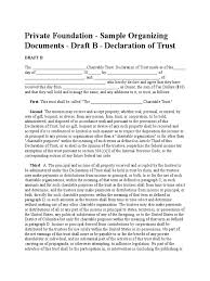 private foundation template trust law charitable organization