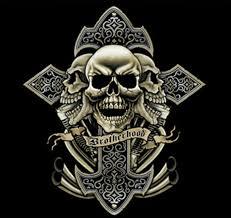 cross skull and exhaust