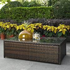 rattan coffee table outdoor coral coast berea outdoor wicker storage coffee table hayneedle
