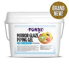edible gel fondx mirror glaze piping gel 24 lb clear edible glue edible