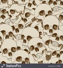 halloween seamless background human skulls seamless background