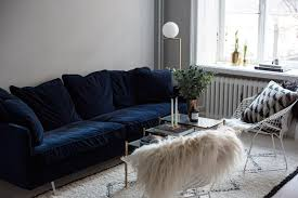 navy blue velvet sofa the perfect blue velvet couch fashion squad velvet couch meedee